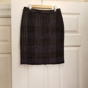 Ann Taylor Tweed Pencil Skirt 00P